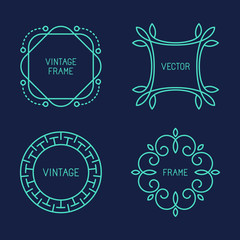 Vector set of line logo templates