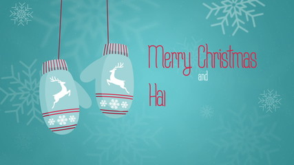 merry cristmas and happy new year 2015 Animation