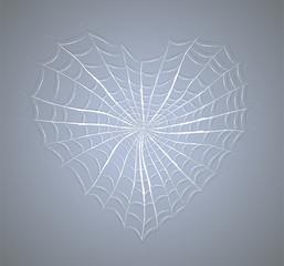 Cobweb heart. Illustration 10 version
