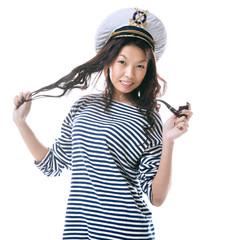 Funny sailor woman