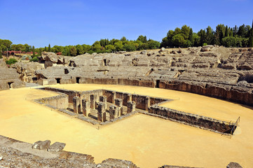 Roman Amphitheater of Italica, Seville, Spain