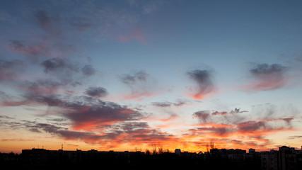 Morning sky in the city
