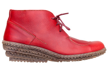 Red female boot