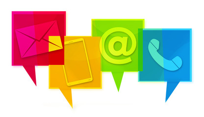 Contact Us Colorfully design graphic icons