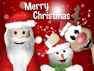 Santa Claus Sowman and Reindeer