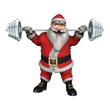canvas print picture - Santa Fitness