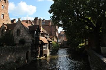 ヨーロッパ ベルギー ブルージュの運河