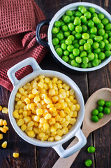 corn and peas