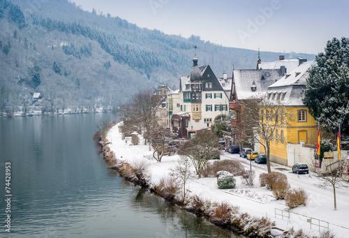 Leinwanddruck Bild Traben-Trarbach village
