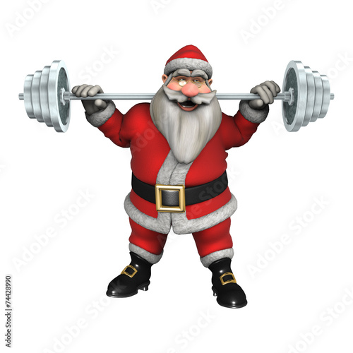 canvas print picture Santa Fitness