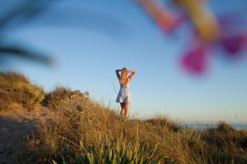 Beach Spain Tourism girl
