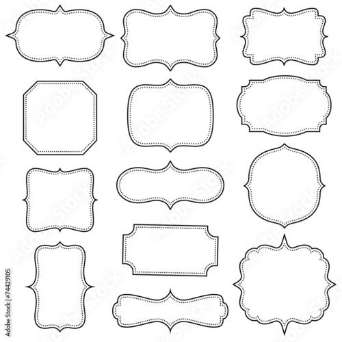Set of simple vintage frames - 74429105