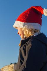 Kind mit Mütze - Weihnachtsmann