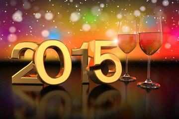 champagner glasses - 2015 - bokeh background - shot 1