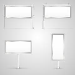 Set of blank City Light vector illustrations