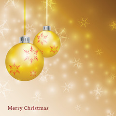 Gold Christmas Background - Illustration