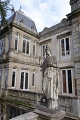statue of an old castle