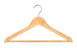wooden hanger for clothes isolated on white background - 74431337