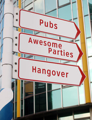 'fun is there' signs