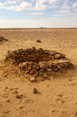Egitto Sahara Deir el Munassib postazioni italiane