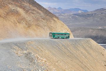 Shuttle bus at Denali national park, Alaska