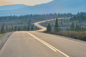 Road in Denali national park, Alaska