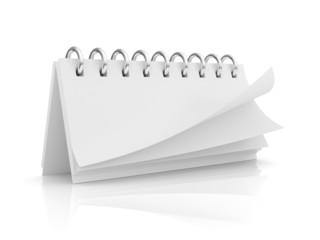 blank calendar isolated on white background