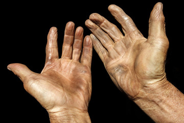 Hand of the old man