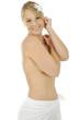 Frau vor Massage, Spa und Saune