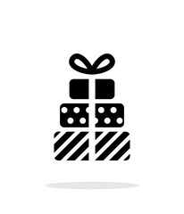 Gifts icons on white background. Vector illustration.