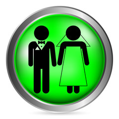 Wedding couple button