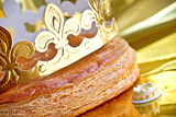 Epiphany cake or galette des rois in French