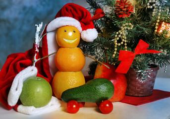 fruit and vegatables christmas decoration