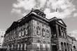 Liverpool City Hall. Black white photo.