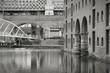 Manchester - Castlefield. Black white photo.