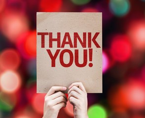Thank You card with colorful background