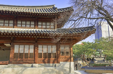 Deoksugung Palace in Downtown Seoul, Korea
