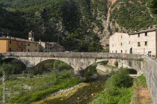 canvas print picture Piobbico (Marches), historic village