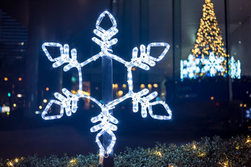 雪の結晶の照明