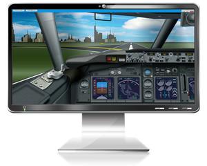 PC-Spiel, Flugsimulator, freigestellt