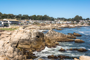 The coast of Pacific Grove, Monterey, California