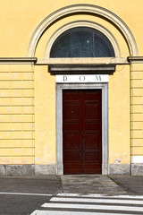 italy  lombardy     in  the milano old   church  door zebra cro