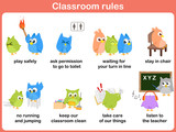 Classroom rules for kids poster