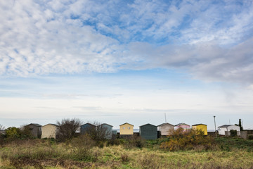 Beach huts in a row, Whitstable
