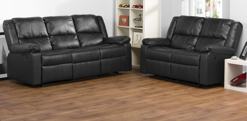 Leather Sofas in room