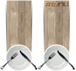 Two Restaurant Menu Banners