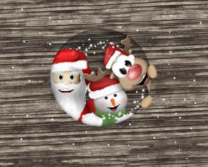 Merry christmas reindeer snow santa christmas