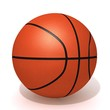Basketball 3d illustration isolated on a white background