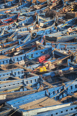 Old rusty fishing boats in the port of Essaouira, Morocco