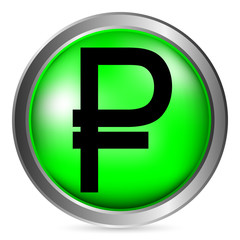 Russian ruble symbol button